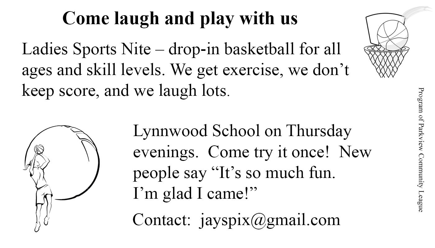 ParkviewLadiesSportsNightNewsLetterAd After 180721