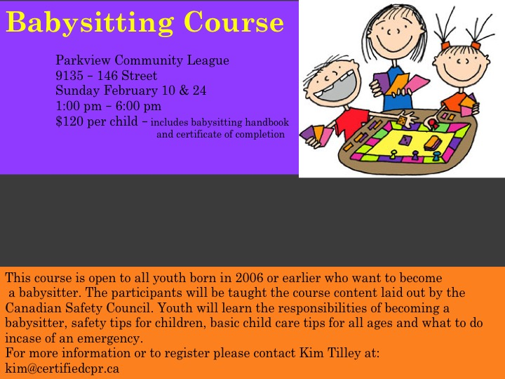 babysitting course feb