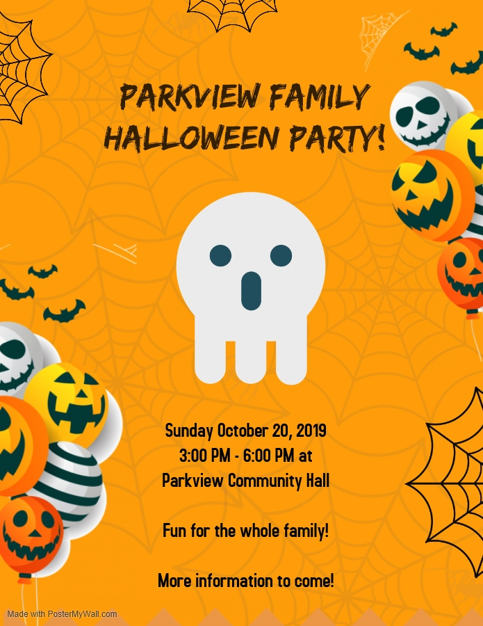 2019 Halloween Party Poster