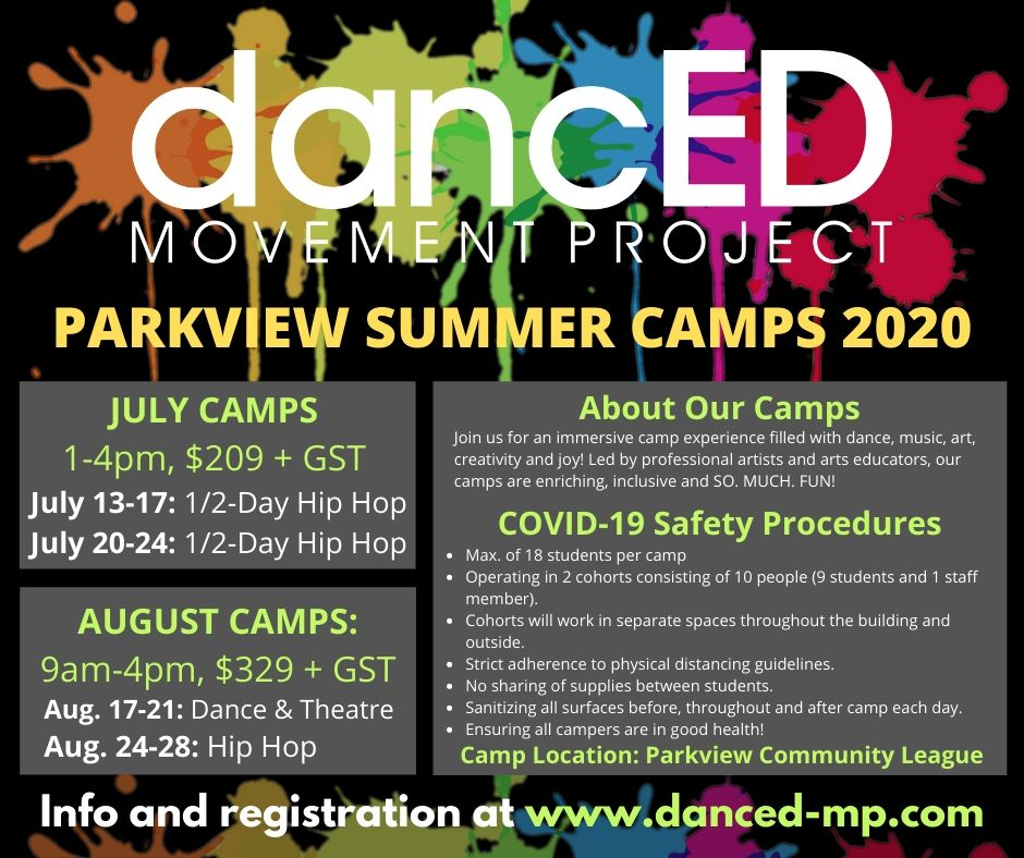 Parkview DanceED SummerCamps 2020